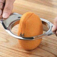 1 шт. нержавеющая сталь манго срезанный креативный кухонный манго сплиттер фруктовый кухонный гаджет аксессуары слайсер для персиков резак Прямая поставка
