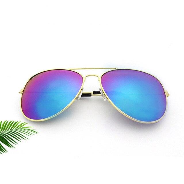 Brand Designer Oversized Pilot Oval Sunglasses Women Men Sun Glass Aviation Metal Frame Mirror Driving Female Glasses