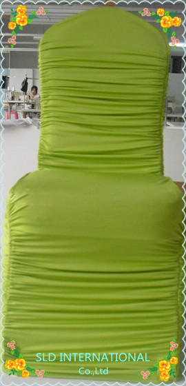 Free Shipping 100 Pleated Lycra Sage Green Chair Covers For Wedding  Decoration And Hotel Use
