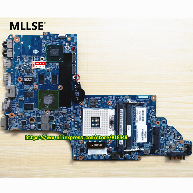 Laptop motherbaord Fit For HP DV7 DV7T DV7-7000 series 682016-001 mainboard GT630M/2G HM77 682043 501 free shipping for hp envy dv7 dv7t dv7 7000 series laptop motherboard 682043 001 48 4st04 021 mainboard 100% tested