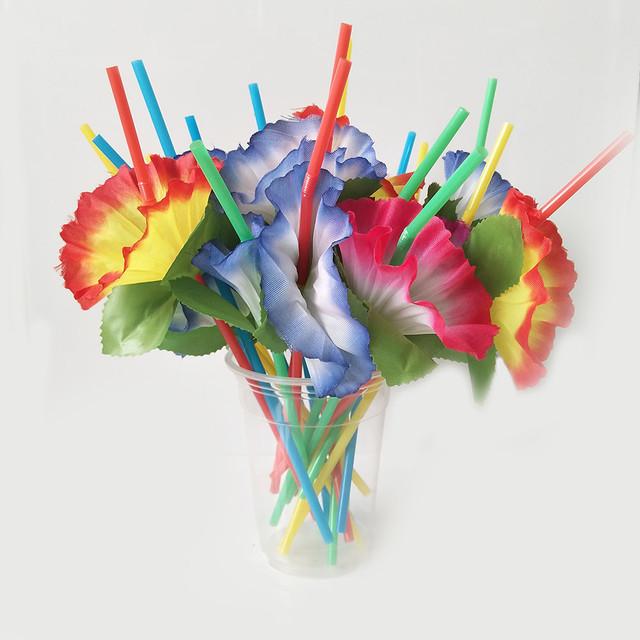 Mixed Hawaiian Styled Drinking Straws 20 Pcs Set