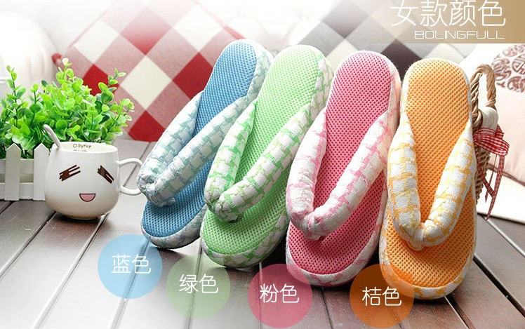 98edf6dd2f18 Girls Mesh Indoor House Slippers Women Cotton Flip Flops Footwear Spa Thong  Shoes 4 Colors 2 Sizes Fit EUR 36 40 US 6 9-in Slippers from Shoes on ...