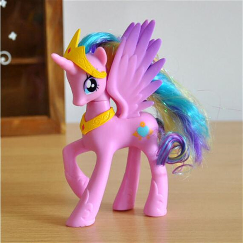 14 CM Pet Shop Princess Girls Unicorn Pvc Doll Anime Movie Action Figure Juguetes Kids Toys Fans Collection Random Send