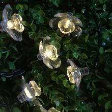 Светодиодный Цветок лампочное Украшение Гирлянда праздник цветных свет батареи box лампы строка 1,5 m 10 светодиодный