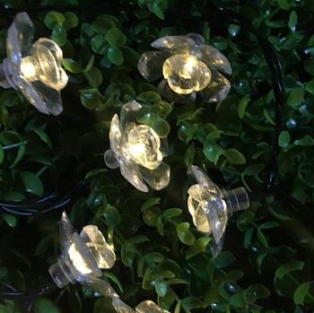 LED kwiat ciąg dekoracja świetlna wakacyjny kolorowe światła, opakowanie na baterie lampa ciąg 1.5 m 10led