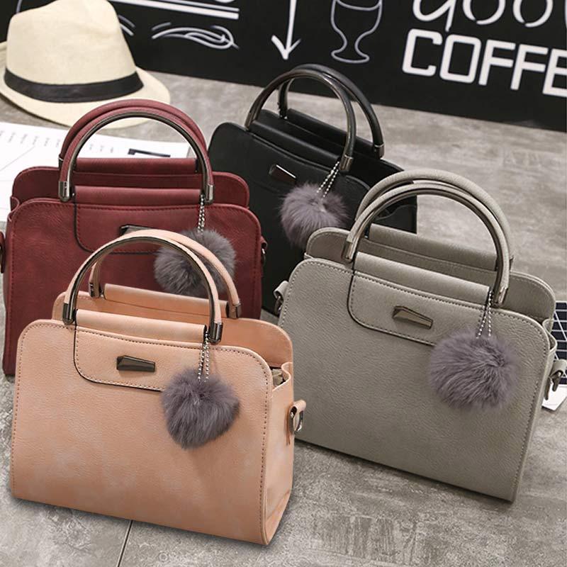 Модные женские туфли сумка из кожи и плюша, Цвет молнии полукруг ручка Сумки на плечо женская сумка lt88