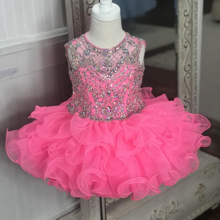 Little Miss Pageant   Dress   for Toddler Infant Baby   Girl   Kid 2019 Cupcake Glitz   Girl   Formal Birthday Wedding Guest Party Gown