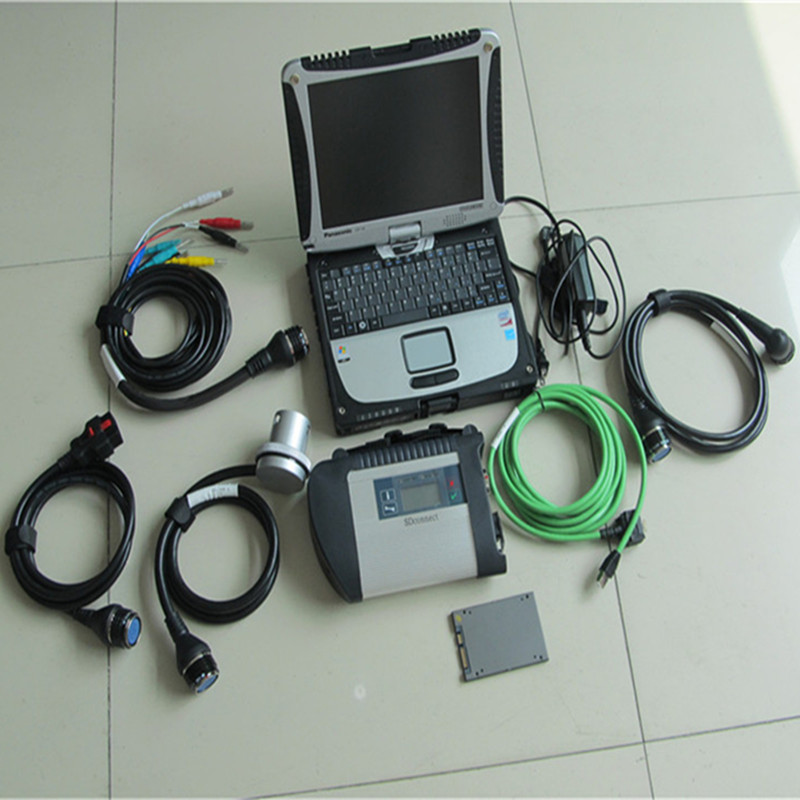 best diagnostic scanner mb star c4 for benz car and truck with software ssd with laptop 4g cf-19 rugged pc