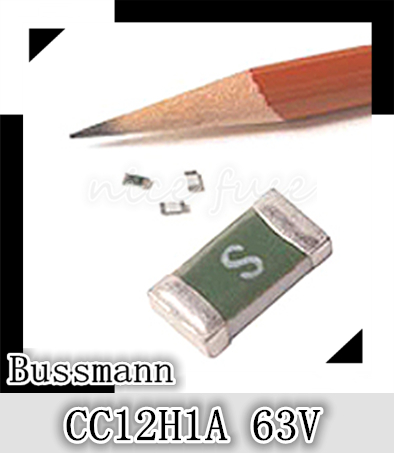 US Bussman original CC12H1A 63V 1206 D fuses 1A Package