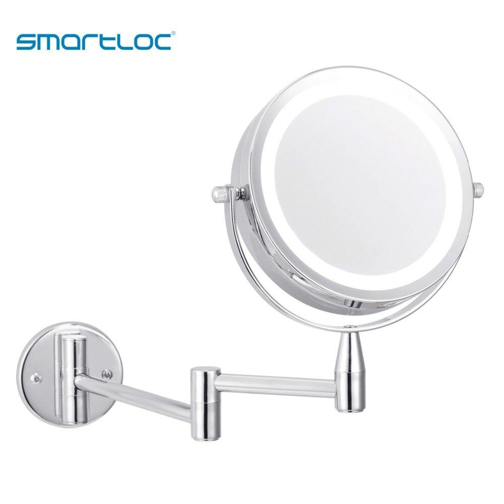 Smartloc-luces LED con aumento de 5x, espejo de baño para montar en pared, maquillaje, afeitado, espejos cosméticos, tocador inteligente Colgante de Ángel guardián de cristal H & D, abalorio de coche para espejo retrovisor, decoración colgante de jardín para el hogar, regalo (Chakra)