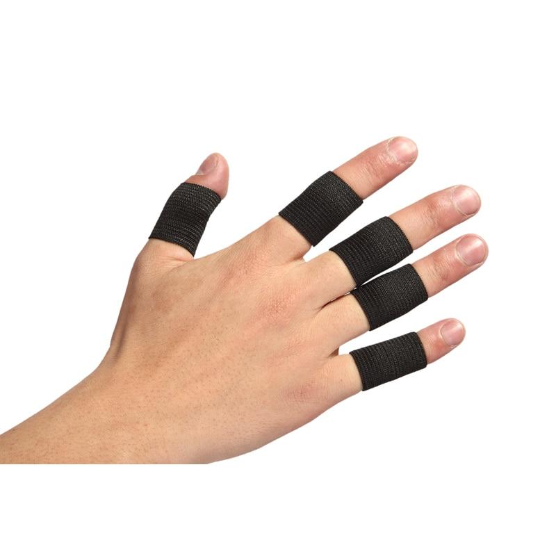 Tcare 10Pcs/Set Finger Sleeves Support Thumb Brace Protector Breathable Elastic Finger Tape For Basketball, Tennis,Baseball