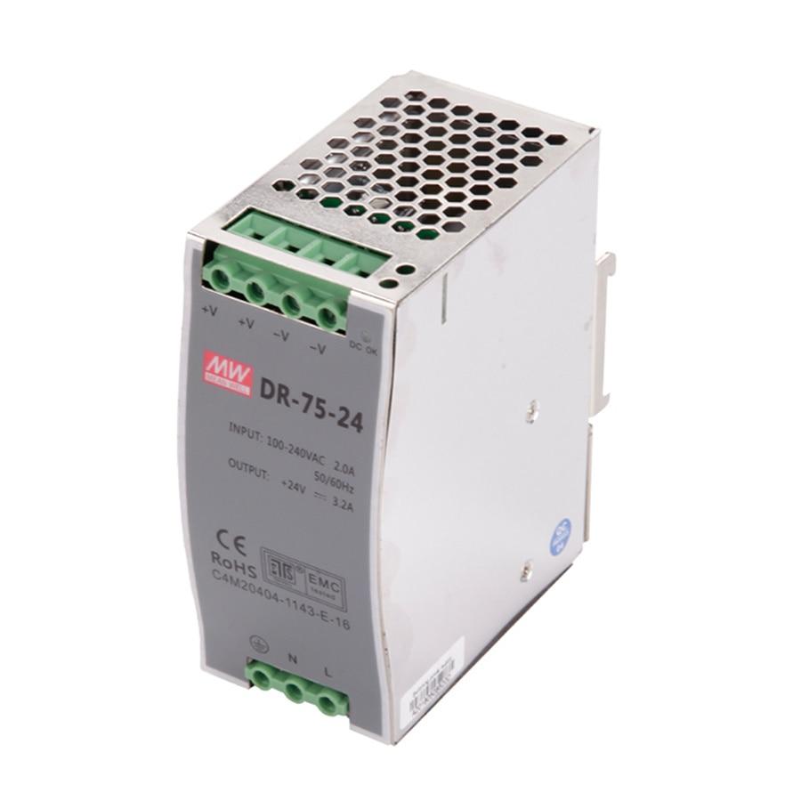 DR 75 75W Single Output 12V 15V 24V 36V 48V Din Rail Switching Power Supply