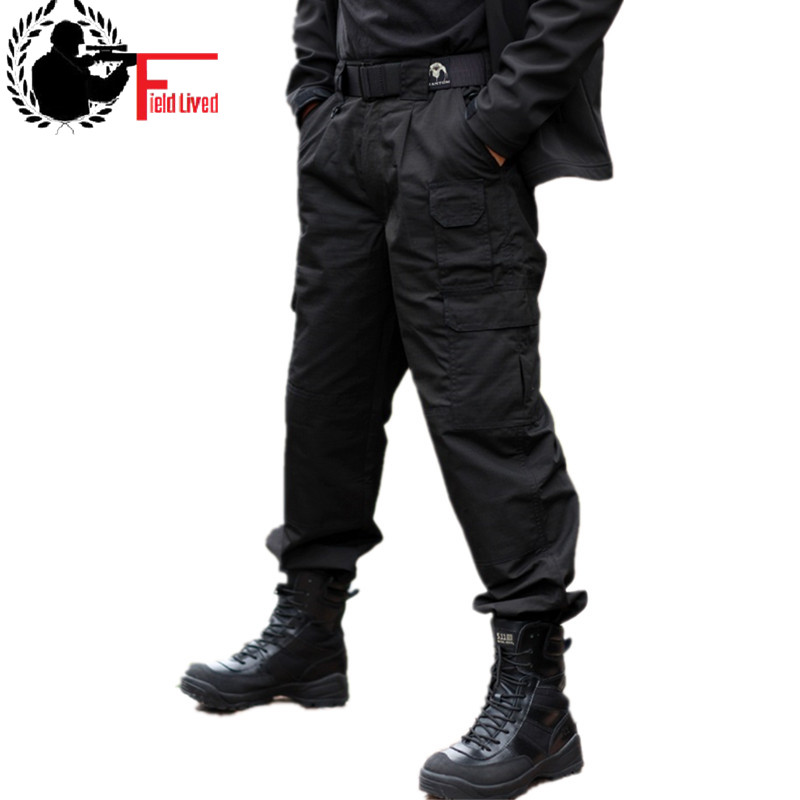 Combat Tactical Army Military Black Baggy Cargo Pants Men's Sweatpants Actives Trousers Casual Clothing Male Overalls Mens Pants