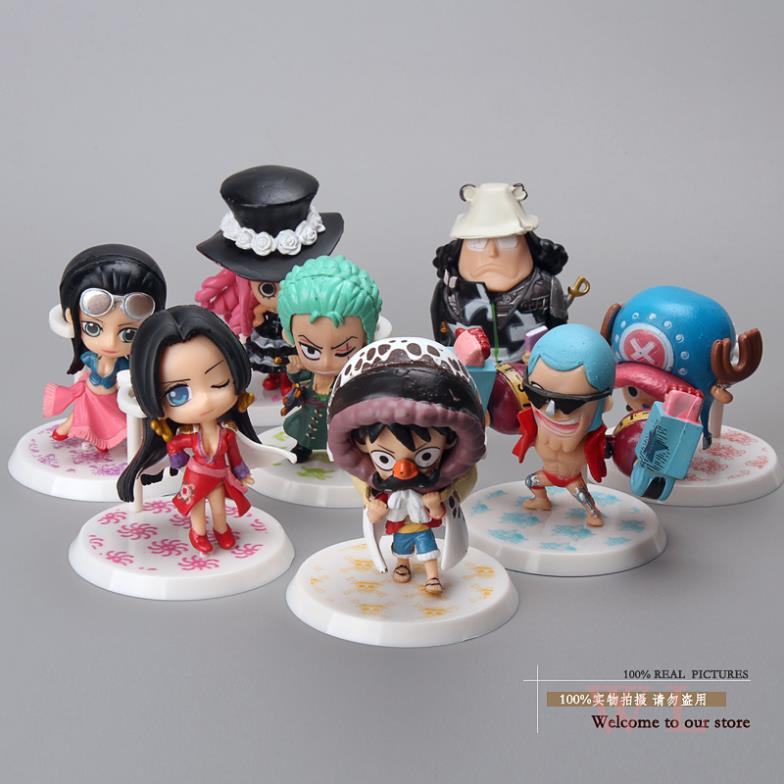 anime figures One Piece Luffy Boa Hancock Zoro Kuma Franky Perona Robin Chopper Mini Toys 8pcs/set Free Shipping Anime хитров и бесхвостые земноводные лягушки