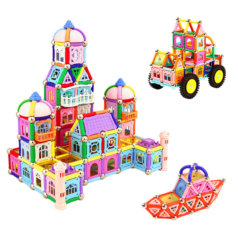 380pcs magnet toy construction kit DIY series intelligence toy set education manual construction magnetic block combination diy kit turbo air connex electronics physical science education toy