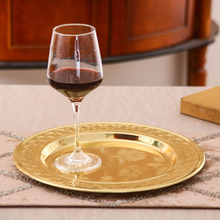 CHANOVEL 30CM stainless steel plate hairline finish mirror finish Thickened Barbecue bone tableware Dish