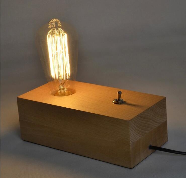Lights & Lighting Modern Wooden Table Lamp With Switch E27 E26 Base Desk Lamp 110/220v Led Decorative Bulb For Home/bedroom/livingroom Decor Pure Whiteness