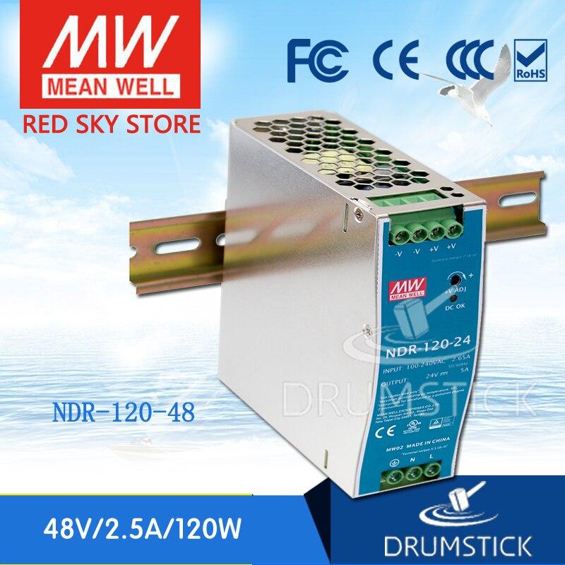 cdd9dec76 Venda Quente NDR-120 meanwell MEAN WELL NDR-120-48 48 V 2.5A 48 V 120 W  Single Output Industrial Trilho DIN fonte de Alimentação fornecer