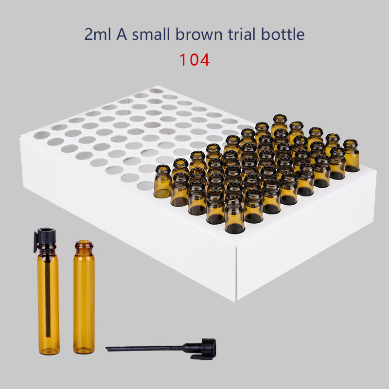 Refillable Bottles Humorous Wholesale 100pieces/lot 2ml Portable Refillable Brown Glass Perfume Bottle With Black Cap&empty Essential Oils Trial Pack Tube