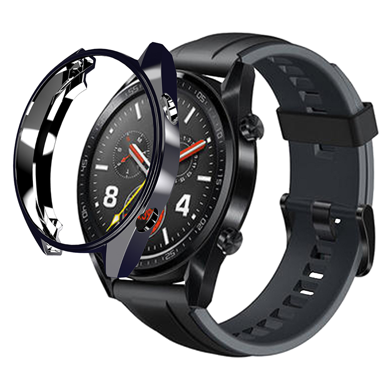 For Huawei Watch GT Protective Plating Case Protector Cover Shell Full Protection Bumper On For Huawei Wuawei Hawawi Watch Gt