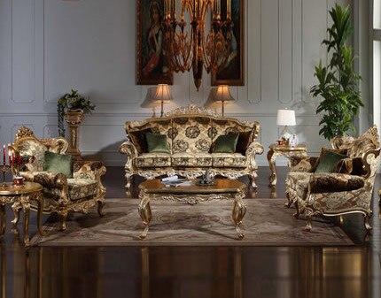 Europäischen stil Hand geschnitzten Holz Klassischen Sofa Barock ...