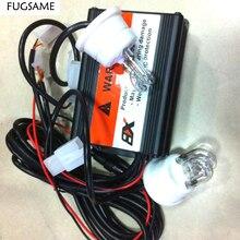 """FUGSAME красный синий ксеноновый стробоскоп, DC12V, 60 Вт, """"U"""" Тип Ксеноновые стробоскопы, стробоскоп скрывает туман свет"""