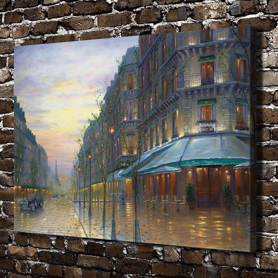 Online kopen wholesale parijs cafe schilderij uit china parijs ...