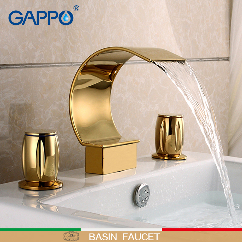GAPPO Basin Faucet bathroom mixer tap waterfall bathroom shower faucets brone bath water mixer Wall Mounted Faucets xueqin bathroom bath shower faucets water control valve wall mounted ceramic thermostatic valve mixer faucet tap
