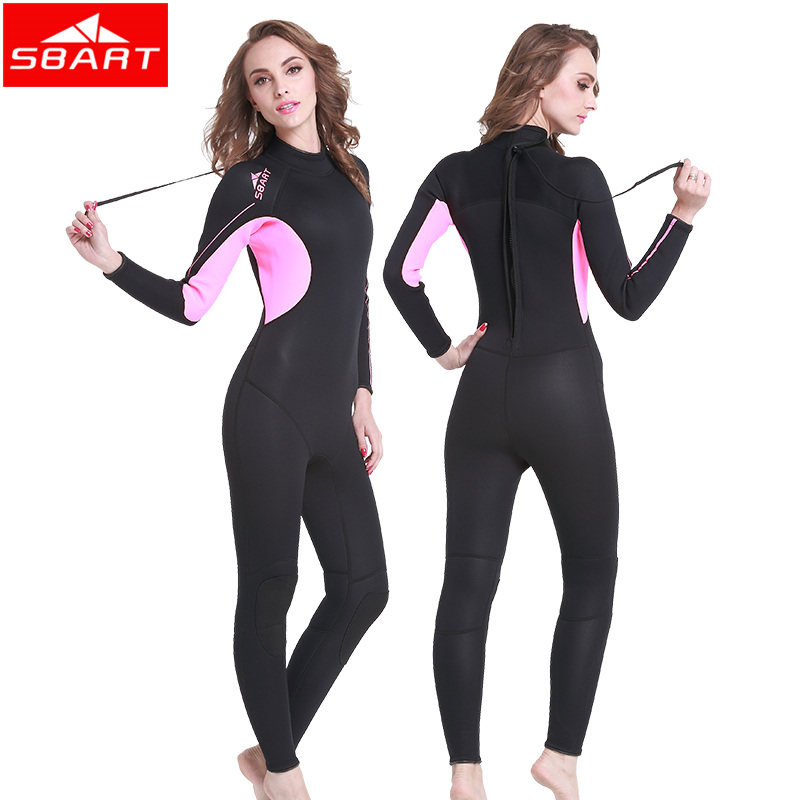 SBART Full Body Neoprene Wetsuit Women Surfing 3MM Diving Suit Anti-UV Diving Equipment Triathlon Wetsuits for Women Swimming K sbart upf50 806 xuancai