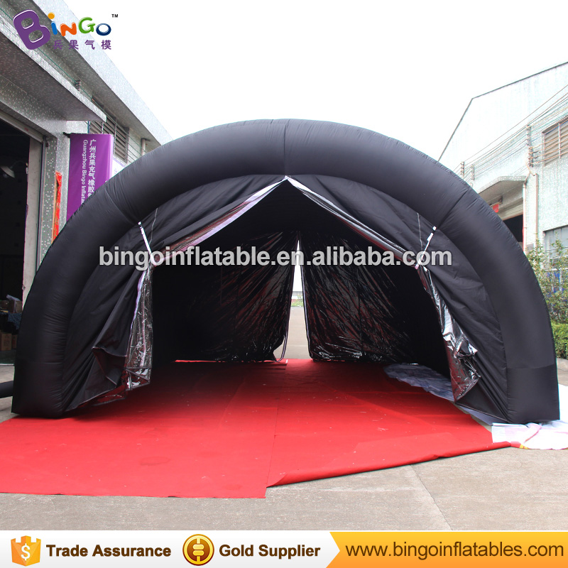 Black 6*4.5*3m baseball inflatable sports tunnel / inflatable tent for podium stage toytent 6 8x4x3 4m oxford cloth inflatable stage tent inflatable stage cover inflatable canopy tent for concert with free shipping