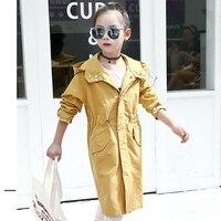 Niños Abrigos Para Niñas Primavera Otoño Niños de Trinchera prendas de Vestir Exteriores del Otoño Niñas Adolescentes Niños Chaquetas Rompevientos 10 12 14 Años