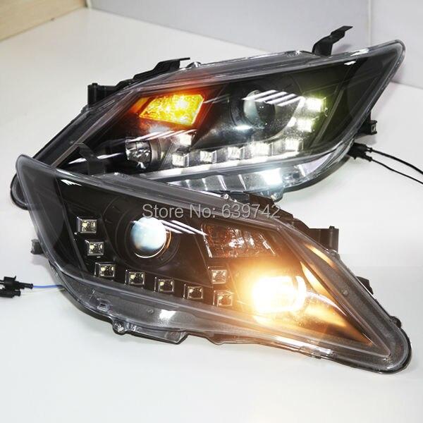 Pro TOYOTA 2012-13 Camry LED Head Light Black Color JY - Autosvětla