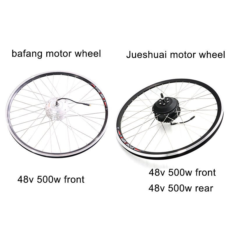 48V 500W ebike kit Bafang 8FUN Front Rear Hub Motor Wheel for Bicycle Electric bike conversion