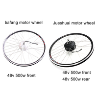 48V 500W ebike kit Bafang 8FUN Front Rear Hub Motor Wheel for Bicycle Electric bike conversion kit motor wheel brushless gear