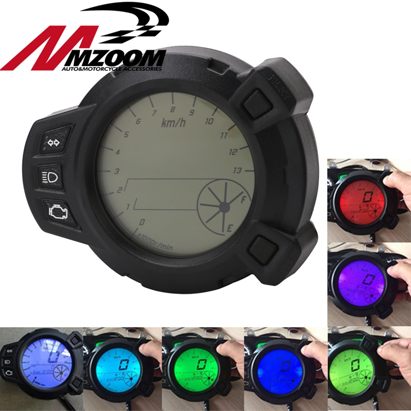 Free shipping Motorcycle speedometer 10000 RMP digital lcd 7colors backlight for Yamaha Zuma BMK x125 YW125