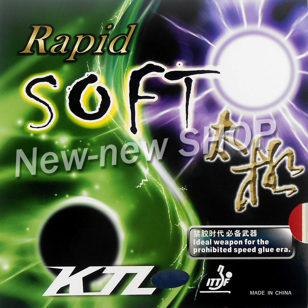 KTL Rapid SOFT Pips-In Table Tennis PingPong Rubber With Sponge