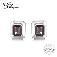 Jewelrypalace Men 4ct Natural Smoky Quartzss Cufflinks Genuine 925 Sterling Sliver Brand New Fabulous Fashion Nice