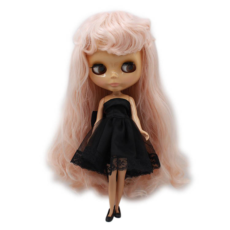 1/6 Blyth Doll Normal Nude Body Glossy Face Pink Long Wavy Hair With Bangs Tan Skin Suitable For Diy No.280bl1059 Excellent Quality Toys & Hobbies Dolls & Stuffed Toys