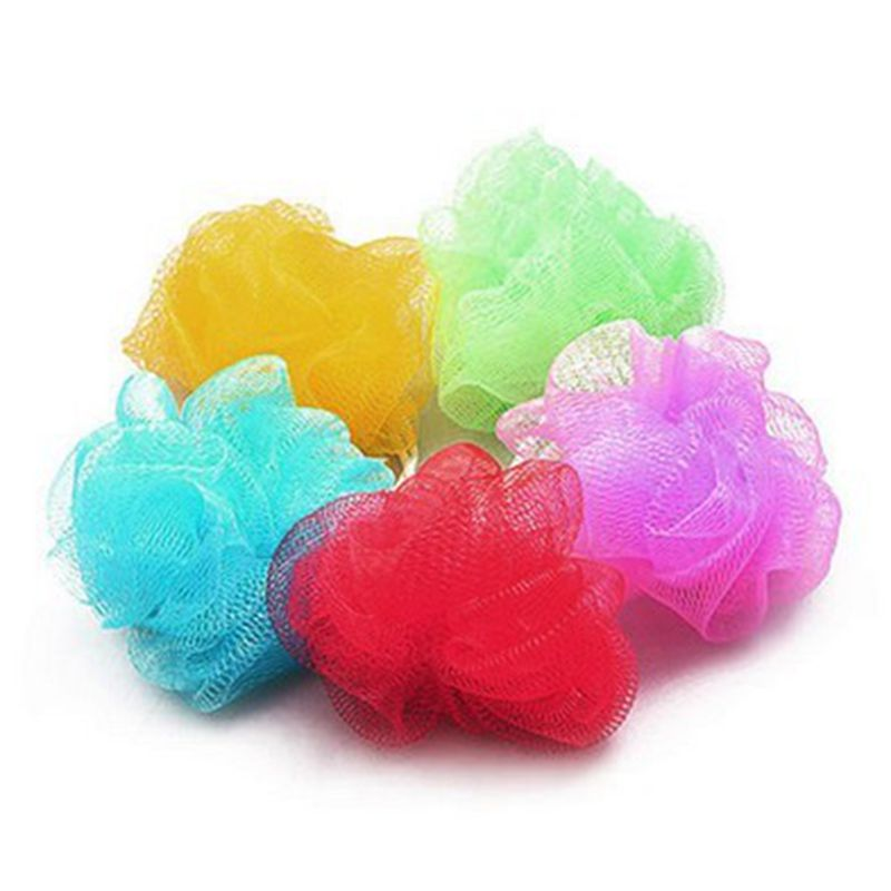 Multicolour Bath Ball Bath Site Bath Tubs Cool Ball Bath Towel Scrubber Body Cleaning Mesh Shower Wash Sponge Product 1pc