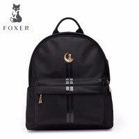 FOXER Women's Backpack School Bag for Teenage Girls Light Travel Bags Female Fashion Backpacks Kanken with USB Charge Port