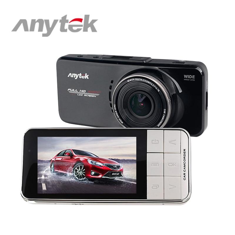 Anytek AT66A Автомобильный видеорегистратор 2.7 НОВАТЭК 96650 полный высокой четкости 1080p камера автомобиля 170 степени 6 г объектив ужин ночного видения видео рекордер кулачка черточки
