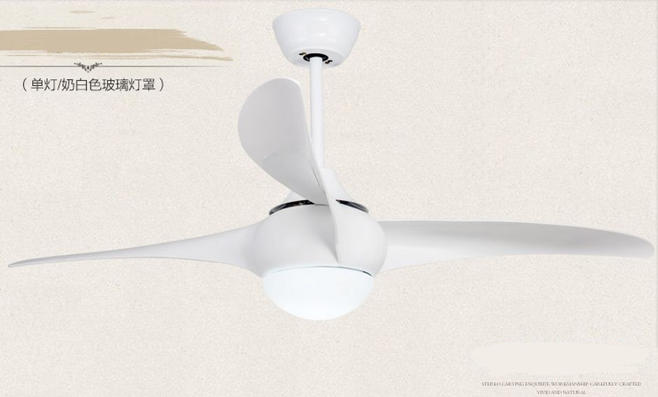 Ventilador americano de 52 pulgadas con lámparas LED Comedor sala de estar lámpara de ventilador ventilador de techo luz minimalismo moderno ventilador de control remoto