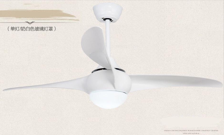 American 52inch fan with LED lamps Dining room living room fan lamp ceiling fan light minimalism modern remote control fan