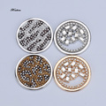 Fashion 33mm mix Colors Crystal Disc Coin Pendant for My Coin Holder Necklace Perfect Gift for valentine's Day