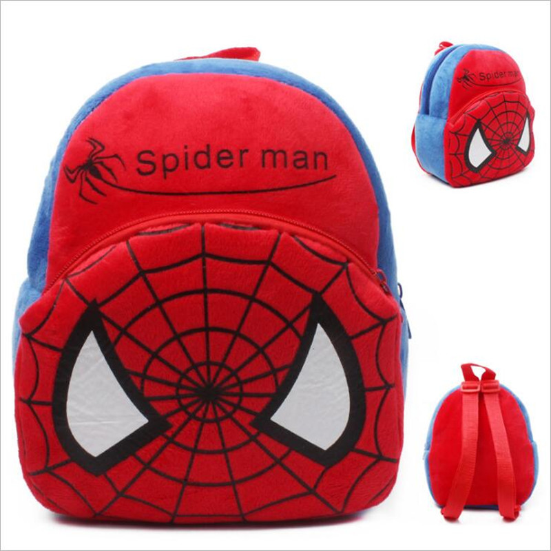 New-Arrival-3D-Cartoon-Superman-Pikachu-Minions-Plush-Children-Backpack-Girls-Boys-Christmas-Gifts-1