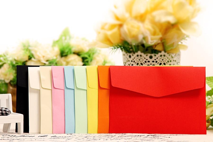 XE98761 Color Blank Envelopes 125x175mm Postcards Envelopes Greeting Cards Envelopes 100PCS
