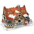 Creative 3D Головоломки Теплый Рождество Дома Игрушки для детей Рождественский Подарок, горячая Бумаги Материал DIY Головоломки