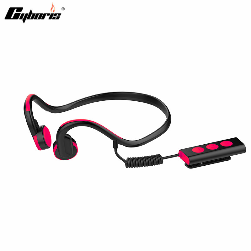 CYBORIS Wireless Headset Bluetooth Sports Bone Conduction 3.5mm Sweatproof Headphones Earphone With Mic for ios Android mini no pain wear wireless headset lossless music earphone with mic bone conduction bluetooth headphone for iphone android