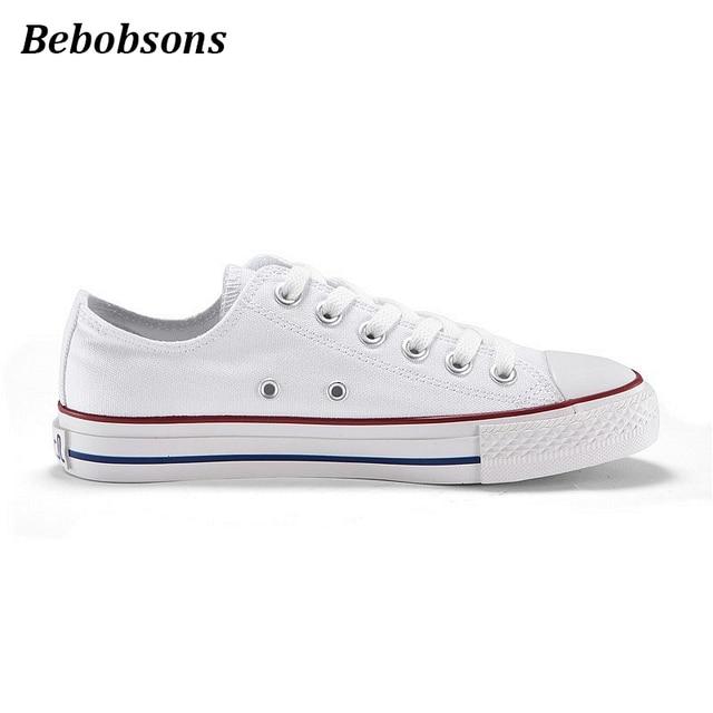 Новые классические белые парусиновые туфли сезон весна-лето Повседневная Обувь на шнуровке Модные женские дышащие студентов без каблука женская обувь
