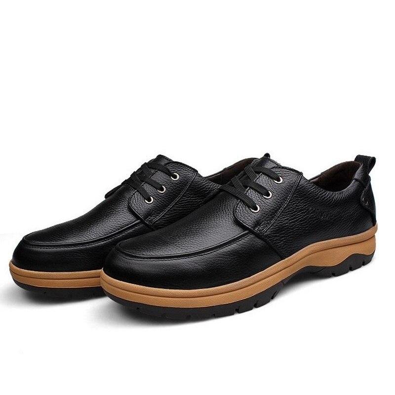Grande De Genuino Hombres Zapatos Hasta Casuales 45 53 Cuero Negro Vestir Oxford Encaje Negocios Tamaño B172 pw0qdXBd